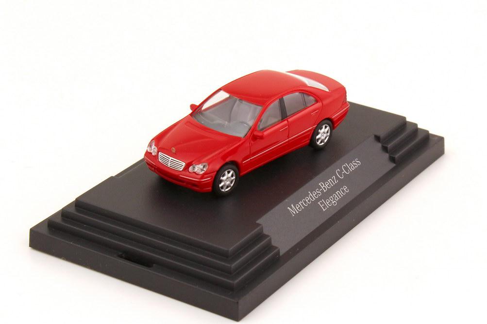 Foto 1:87 Mercedes-Benz C-Klasse Elegance W203 magmarot - Werbemodell - Busch B66960611