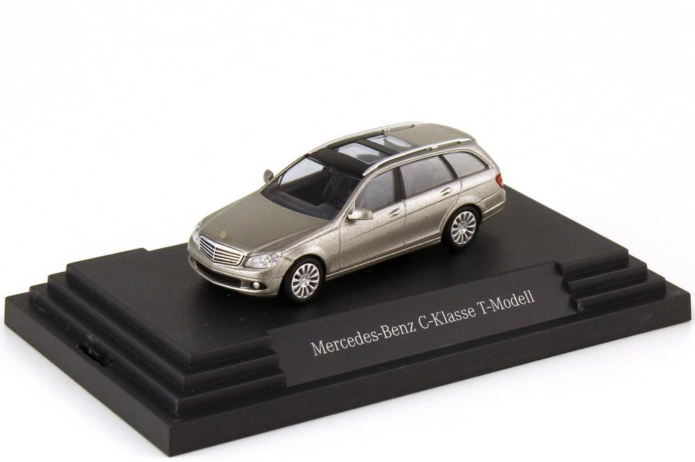 Foto 1:87 Mercedes-Benz C-Klasse T-Modell Elegance S204 cubanitsilber-met. - Werbemodell - Busch B66962363
