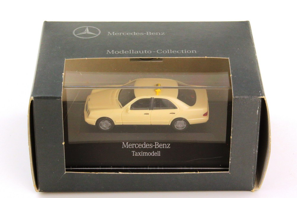 Foto 1:87 Mercedes-Benz E-Klasse W210 Taxi - Werbemodell - herpa B66005635