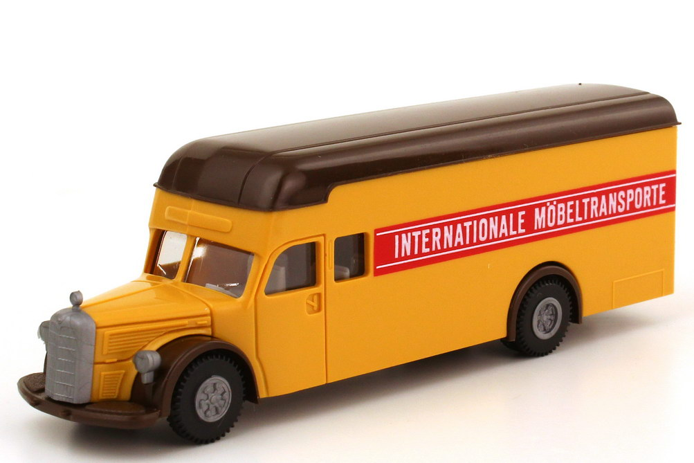 Foto 1:87 Mercedes-Benz L 6600 Möbelkoffer-Lkw Internationale Möbeltransporte - Brekina 5500