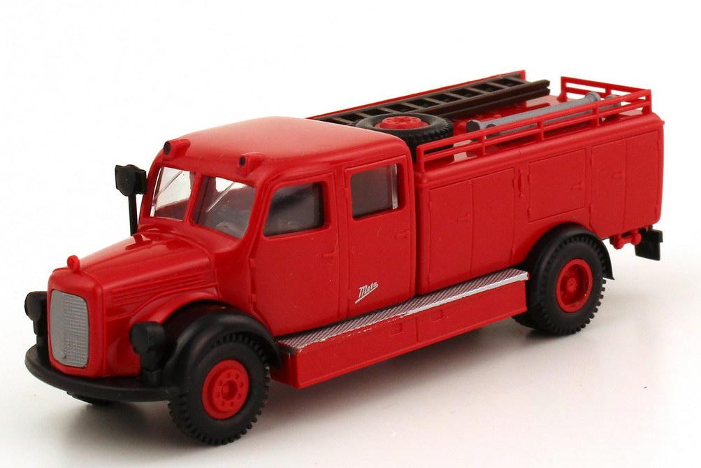 Foto 1:87 Mercedes-Benz L311 Metz TLF 15 Feuerwehr rot - Brekina 4020