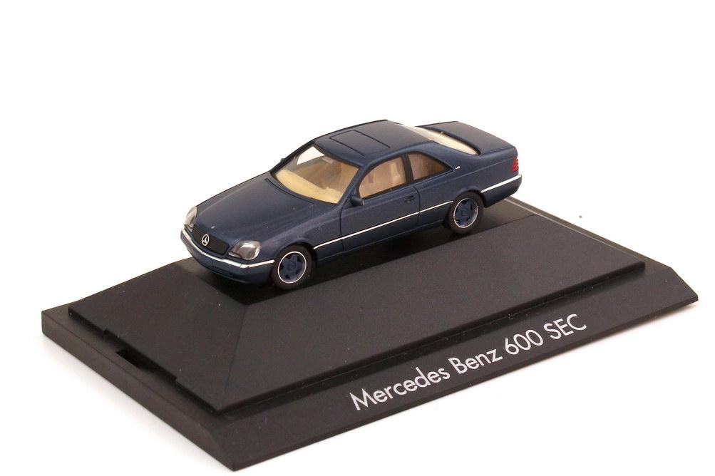 Foto 1:87 Mercedes-Benz S-Klasse Coupé 600 SEC W140 blau-met. mit Borbet-Felgen - herpa 100526