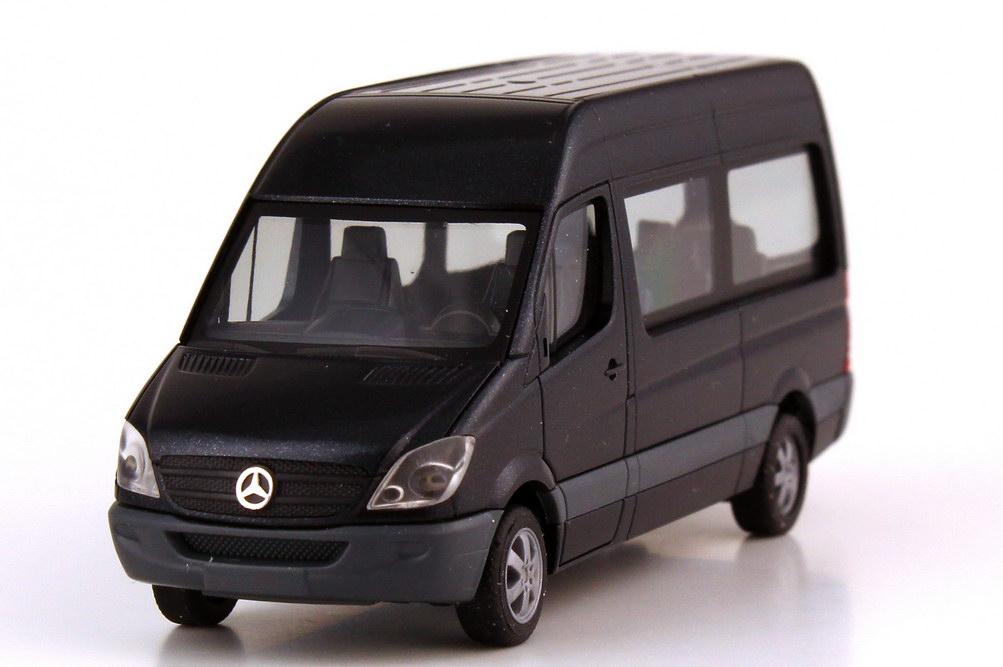 Foto 1:87 Mercedes-Benz Sprinter NCV3 Bus Hochdach carbonschwarz-met. - Werbemodell - herpa B66000756