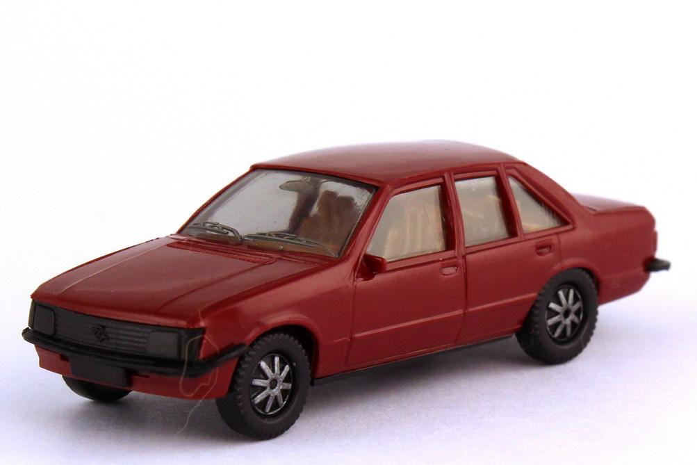 Foto 1:87 Opel Rekord E dunkelrot - herpa 2007