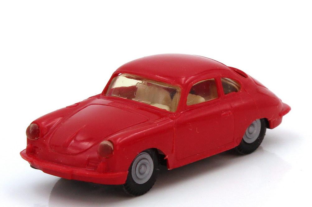 Foto 1:87 Porsche 356 rot weiße Sitze - Praliné