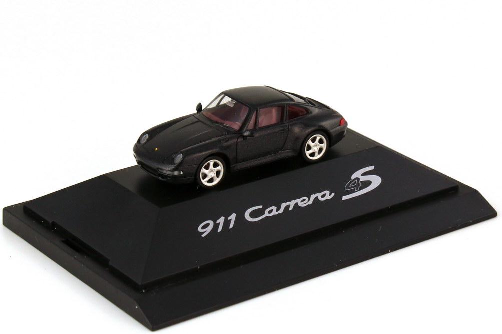 Foto 1:87 Porsche 911 Carrera 4S 993 satinschwarz-met. - Werbemodell - herpa WAP022003