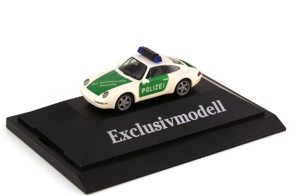 Foto 1:87 Porsche 911 Carrera 993 Polizei - Der einmillionste Porsche - herpa 226912