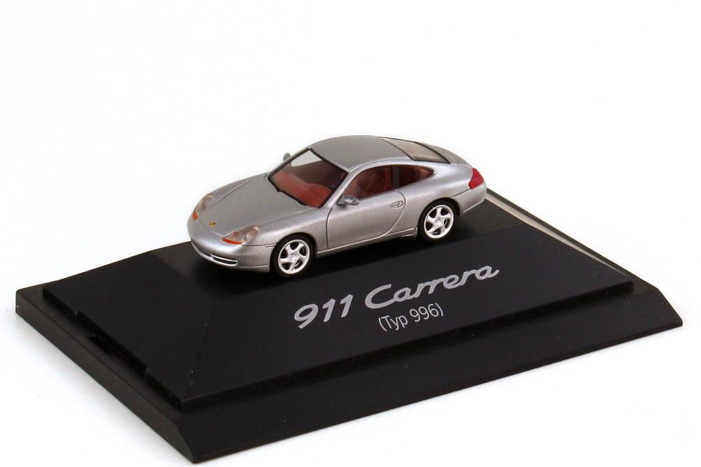 Foto 1:87 Porsche 911 Carrera 996 arktissilber-met. - Werbemodell - herpa WAP02202097