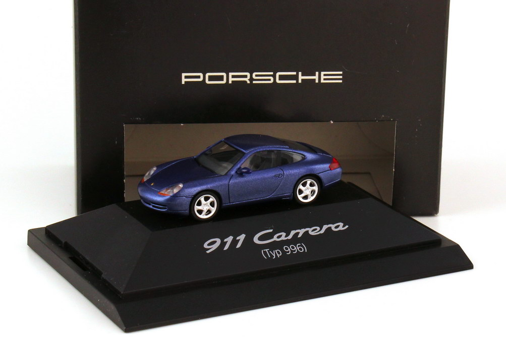 Foto 1:87 Porsche 911 Carrera 996 zenitblau-met. - Werbemodell - herpa WAP02201997