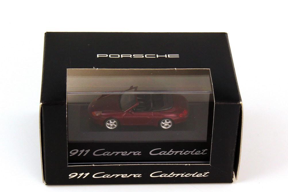 Foto 1:87 Porsche 911 Carrera Cabriolet 996 arenarot-met. - Werbemodell - herpa WAP02202297