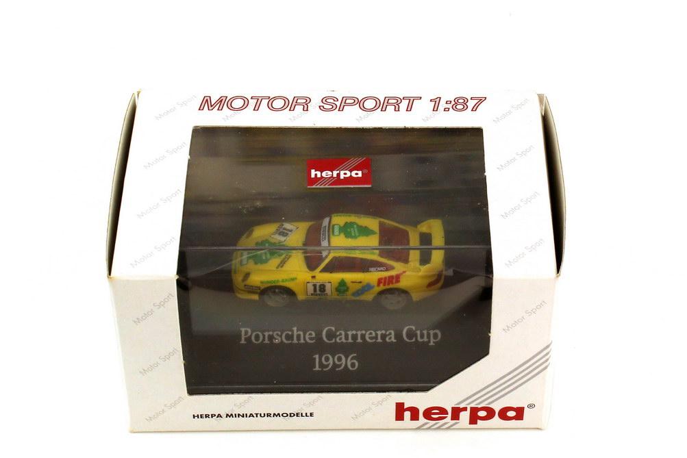 Foto 1:87 Porsche 911 RS Clubsport 993 PCC 1996 Wunderbaum Nr.18 Oliver Mai - herpa 037082