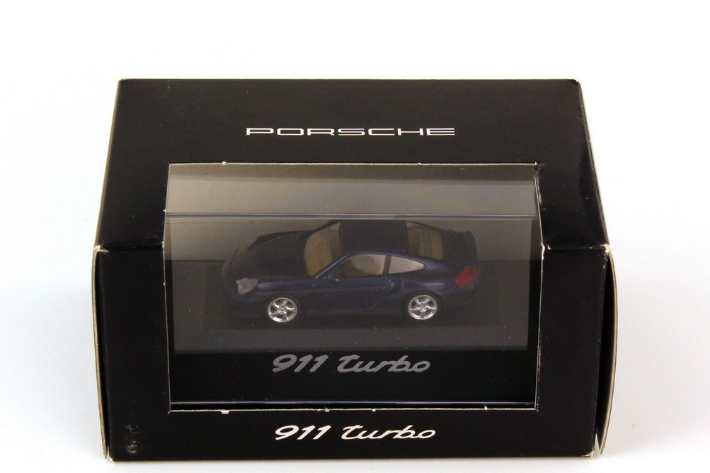 Foto 1:87 Porsche 911 turbo 996 lapisblau-met. - Werbemodell - herpa WAP02203310