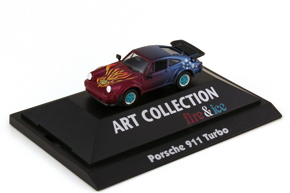 Foto 1:87 Porsche 911 turbo Typ 930 Fire & Ice - herpa Art Collection 045094