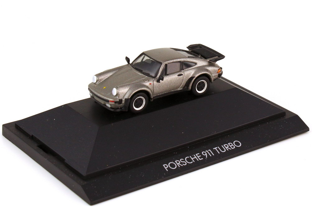 Foto 1:87 Porsche 911 turbo Typ 930 felsgrau-met. - herpa Private Collection 30060
