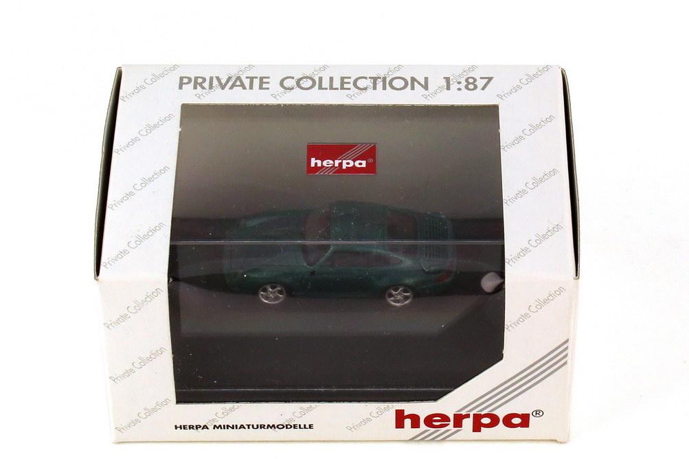 Foto 1:87 Porsche 911 turbo 993 amazonasgrün-met. - herpa 101028