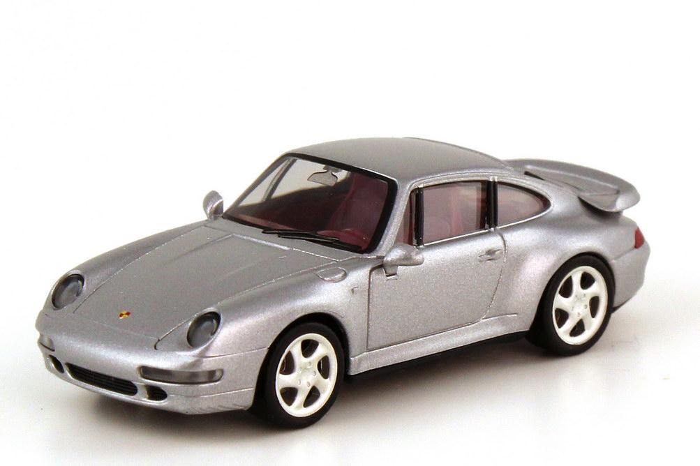 Foto 1:87 Porsche 911 turbo 993 polarsilber-met. - Werbemodell - herpa WAP022002