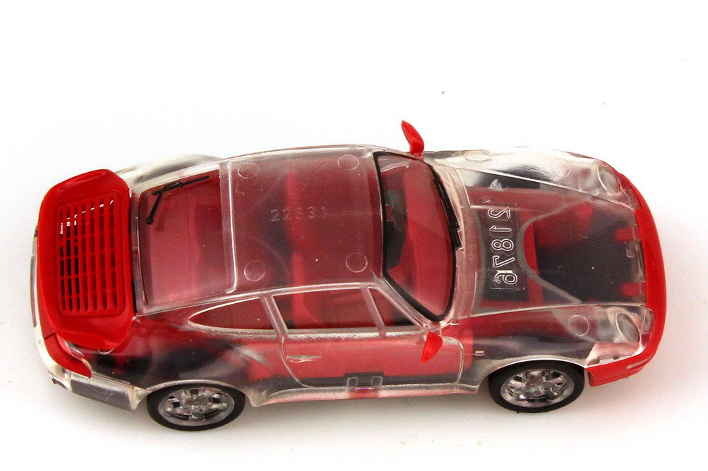 Foto 1:87 Porsche 911 turbo 993 transparent rot - Aktionsmodell Nr.1 - herpa 184892
