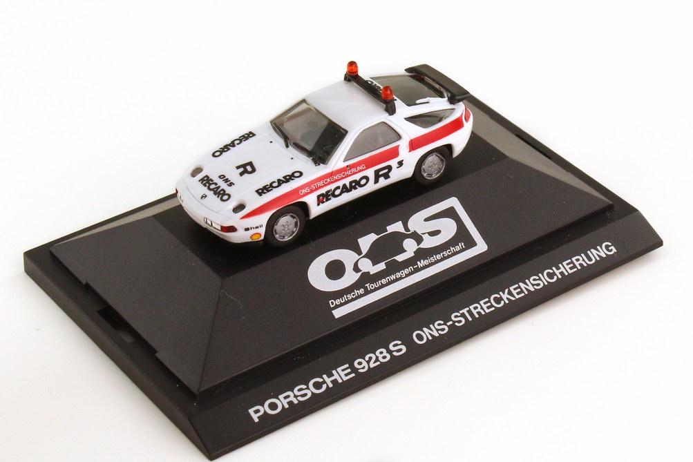 Foto 1:87 Porsche 928 S4 ONS Streckensicherung weiß herpa 3510