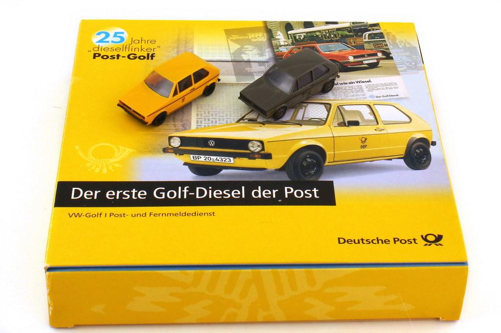 Foto 1:87 Post-Set Der erste Golf-Diesel der Post VW Golf I Postdienst und Fernmeldedienst - Brekina