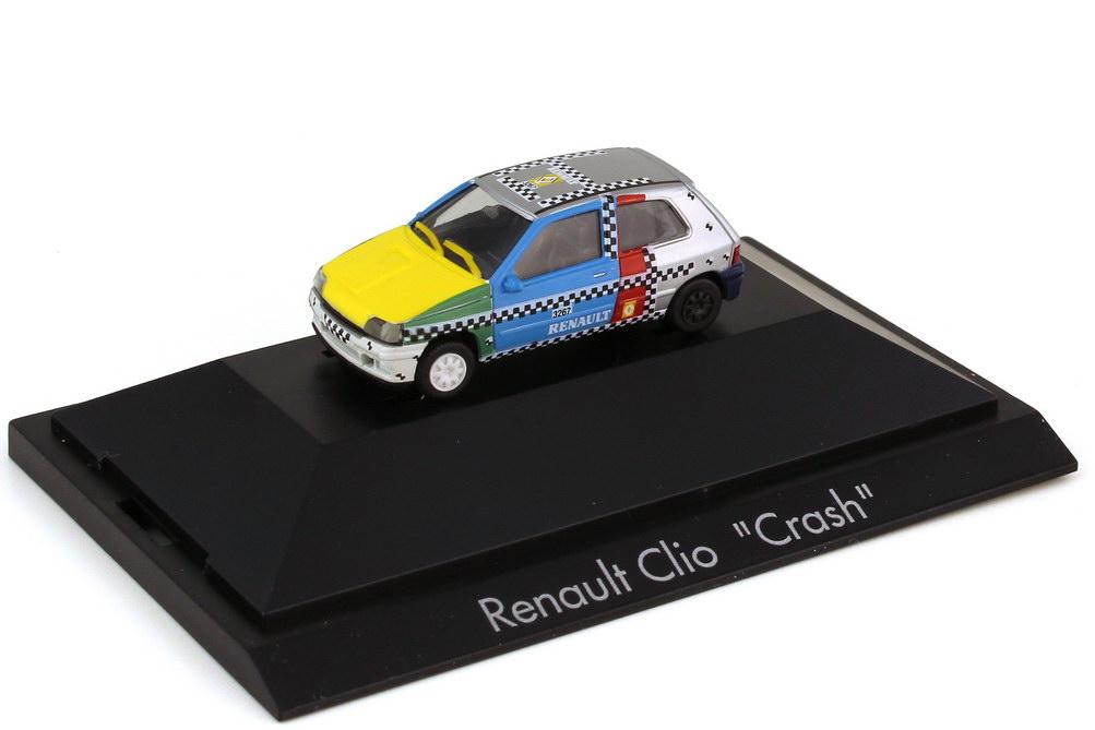 Foto 1:87 Renault Clio 16V Phase 1 - Crash - Crashtest-Fahrzeug - herpa 182690