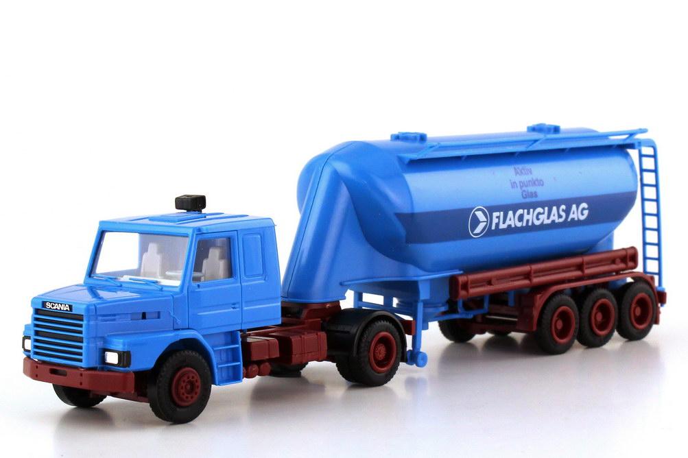 Foto 1:87 Scania T142 EuterSilo-Szg Flachglas - Aktiv in punkto Glas - herpa 836100