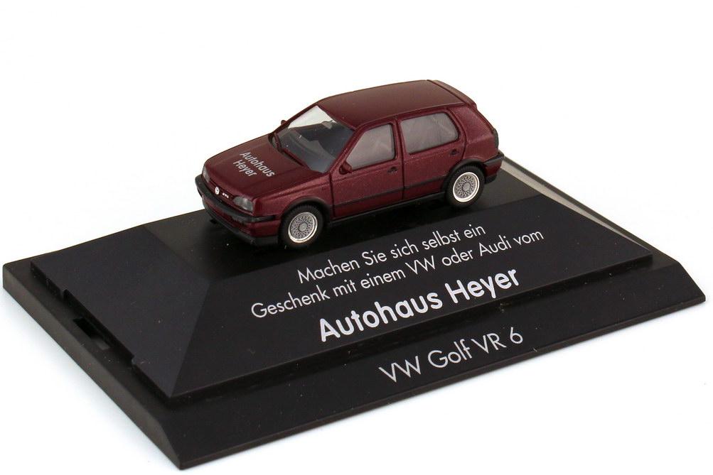 Foto 1:87 VW Golf III VR6 4türig weinrot-met. - Autohaus Heyer - herpa
