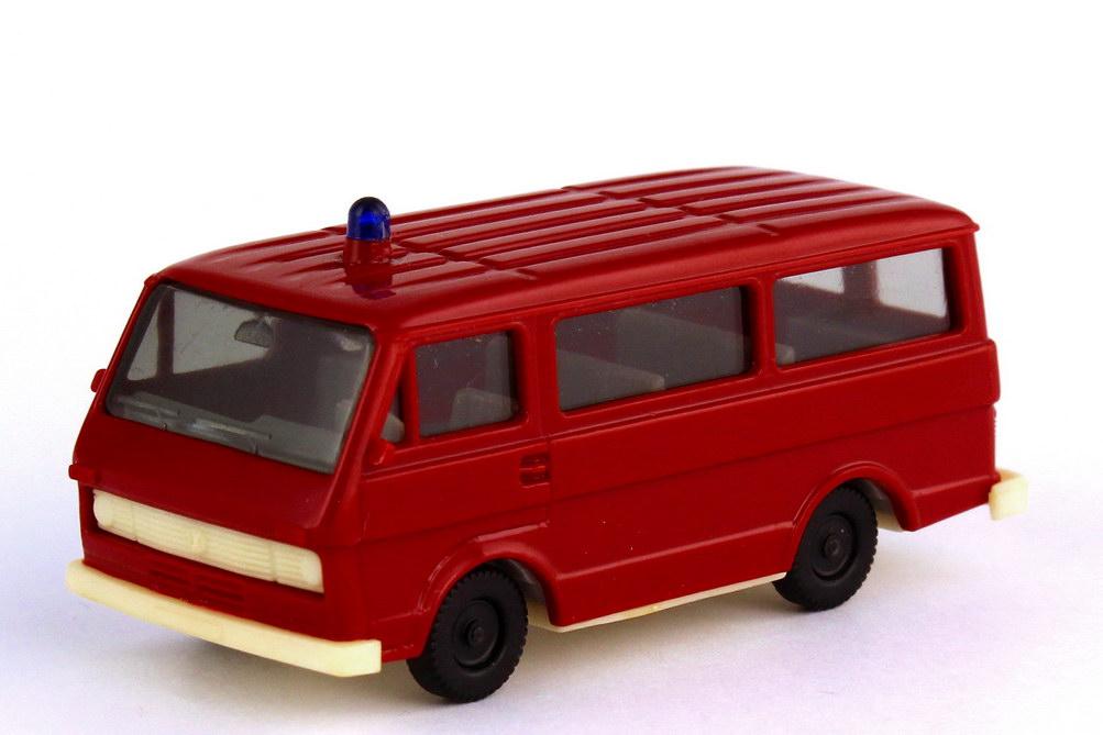 Foto 1:87 VW LT 28 Bus Feuerwehr dunkelrot - IA grau - B-Ware - herpa 4016