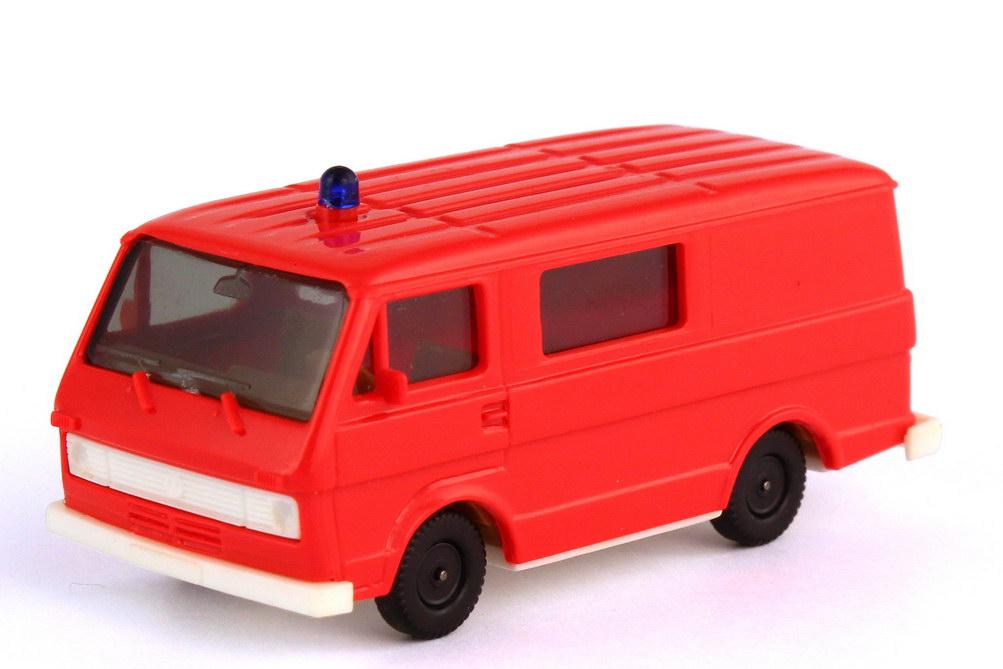 Foto 1:87 VW LT 28 Bus Mittelfenster Feuerwehr signalrot - herpa 4016
