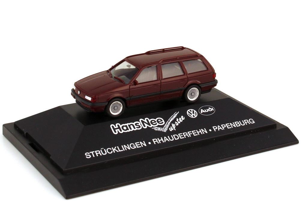Foto 1:87 VW Passat Variant Typ B3 purpurrot - Hans Nee - herpa 160780
