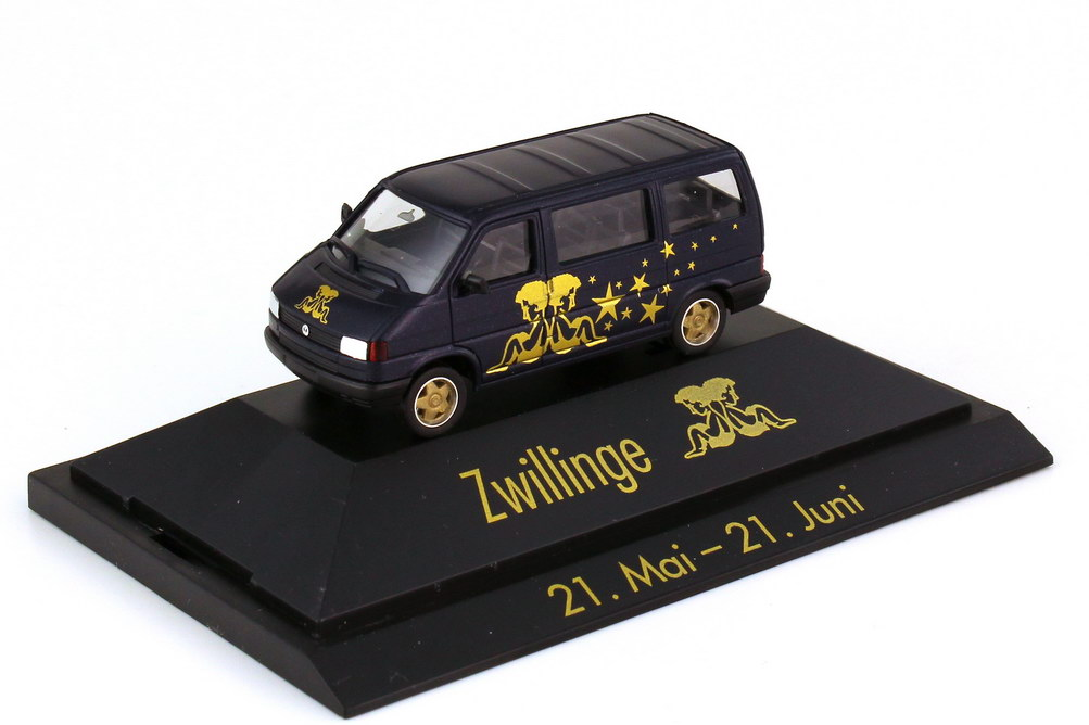 Foto 1:87 VW T4 Caravelle Sternzeichen Zwillinge - Astro Collection - herpa 100922