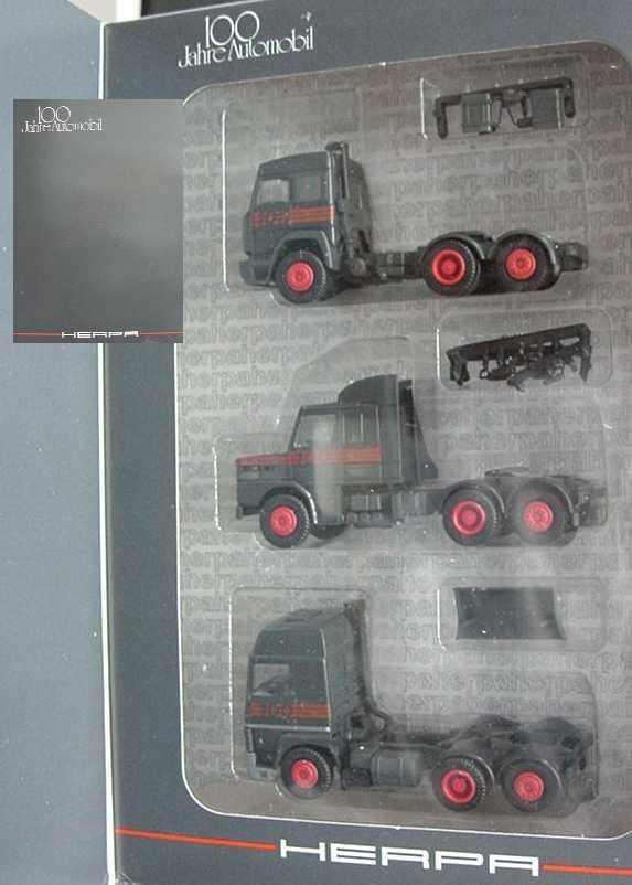Foto 1:87 100 Jahre Automobil Edition 1 - Iveco TurboStar + Scania T142 + Renault R390 Turbo - herpa 7553