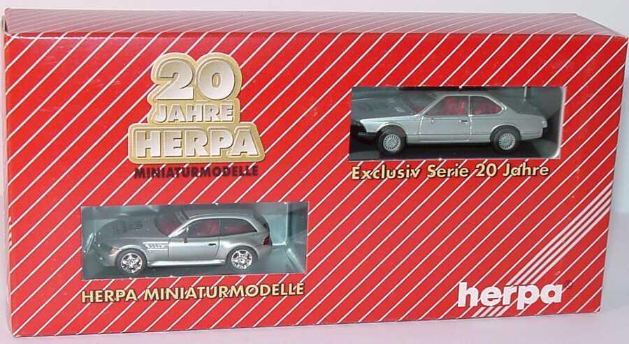 Foto 1:87 20 Jahre Herpa Setpackung BMW (BMW 633CSi + BMW Z3 M-Coupé) herpa 187497