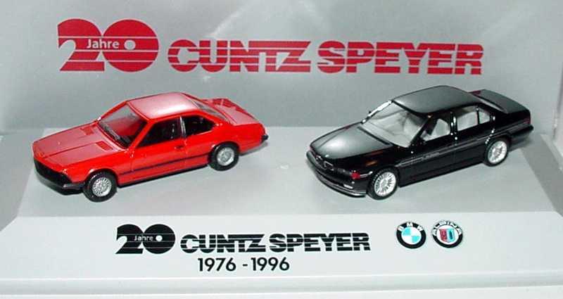 Foto 1:87 20 Jahre Kuntz Speyer 1976 - 1996 (BMW 633 CSi rot + Alpina B12 schwarz) herpa