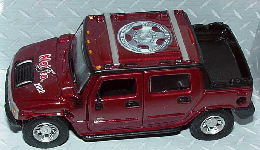 Foto 4 Pullback Hummer H2 SUT rot-met. Maisto 2002, 10 Years Maisto (Messemodell) Maisto