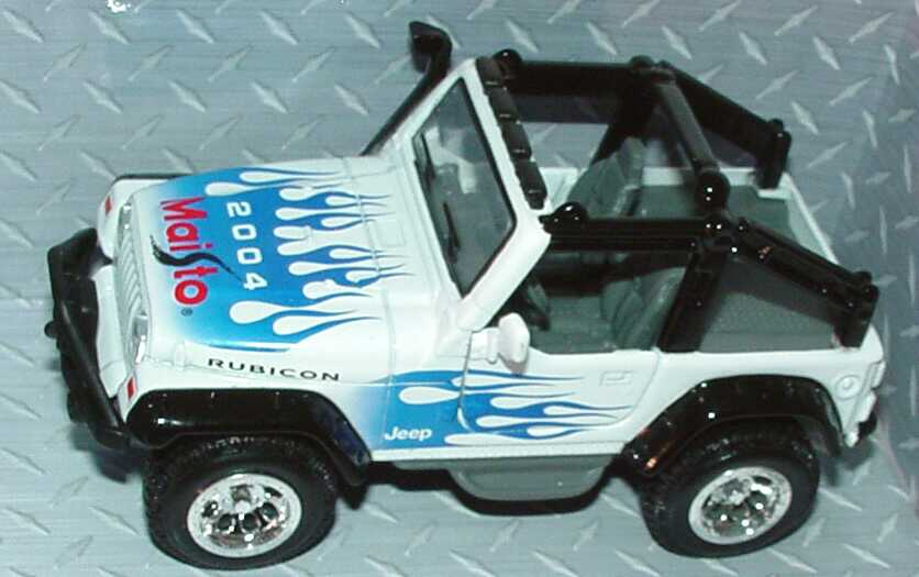Foto 4 Pullback Jeep Rubicon weiß/blau Maisto 2004 (Messemodell) Maisto