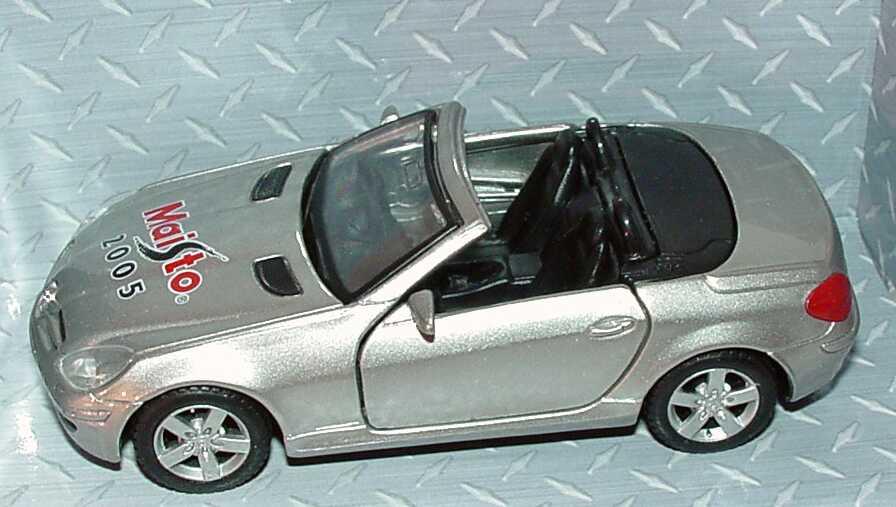 Foto 4 Pullback Mercedes-Benz SLK (R171) silber-met. Maisto 2005 (Messemodell) Maisto
