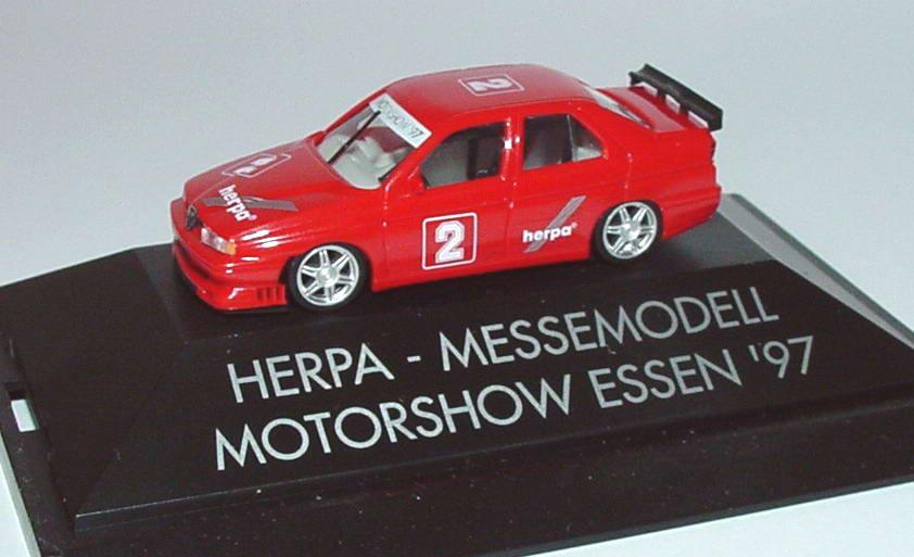 Foto 1:87 Alfa Romeo 155 STW Herpa, Messemodell Motorshow Essen ´97 Nr.2 herpa