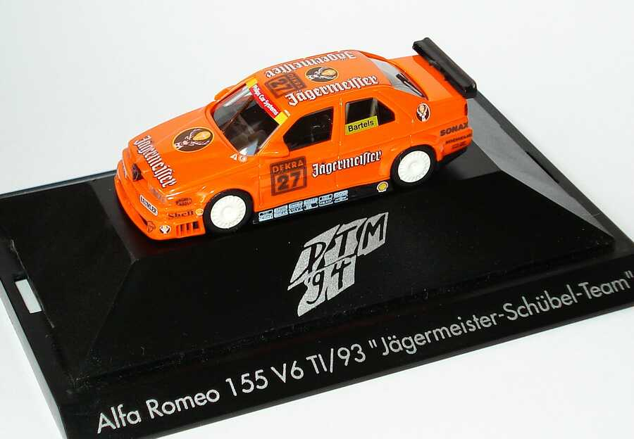 Foto 1:87 Alfa Romeo 155 V6 TI DTM 1994 Schübel, Jägermeister Nr.27, Bartels herpa 036054