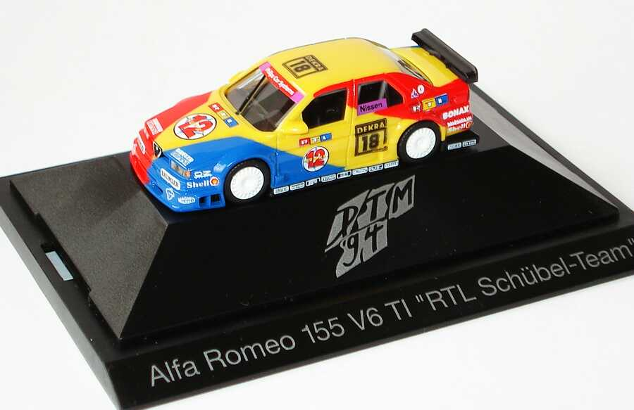 Foto 1:87 Alfa Romeo 155 V6 TI DTM 1994 Schübel, RTL Punkt 12 Nr.18, Nissen herpa 036085
