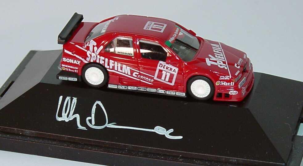 Foto 1:87 Alfa Romeo 155 V6 TI DTM 1994 Schübel, TV Spielfilm Nr.11, Danner mit Fahrerautogramm herpa 036108