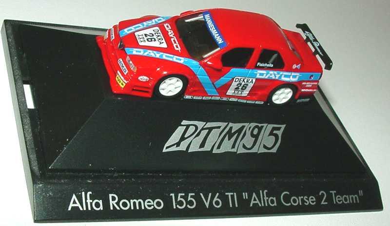 Foto 1:87 Alfa Romeo 155 V6 TI DTM 1995 Alfa Corse 2, Dayco Nr.26, Fisichella herpa 036559