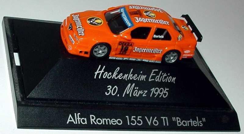 Foto 1:87 Alfa Romeo 155 V6 TI DTM 1995 Jägermeister Nr.19, Bartels (Hockenheim Edition 1995) herpa 036368