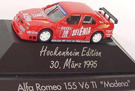 Foto 1:87 Alfa Romeo 155 V6 TI DTM 1995 Selena Nr.18, Modena (Hockenheim Edition 1995) herpa 036382