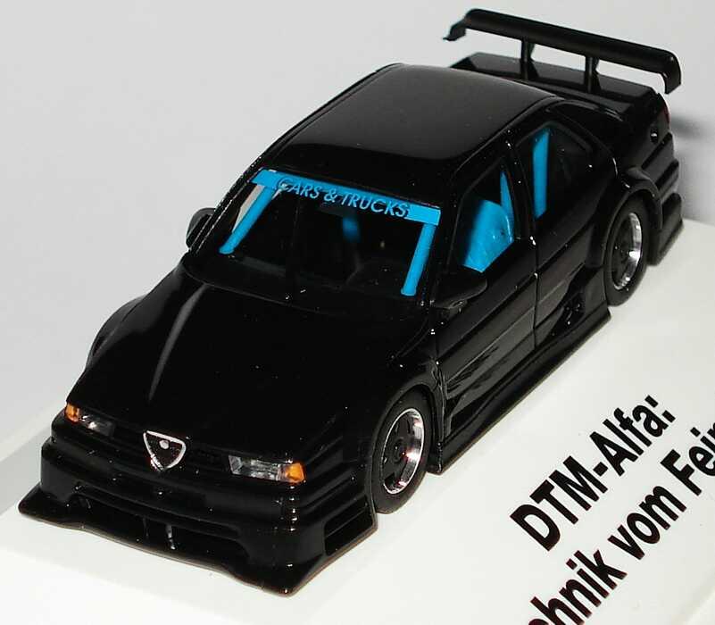 Foto 1:87 Alfa Romeo 155 V6 TI DTM schwarz mit Borbet-Felgen DTM-Alfa: Technik vom Feinsten, Cars & Trucks herpa