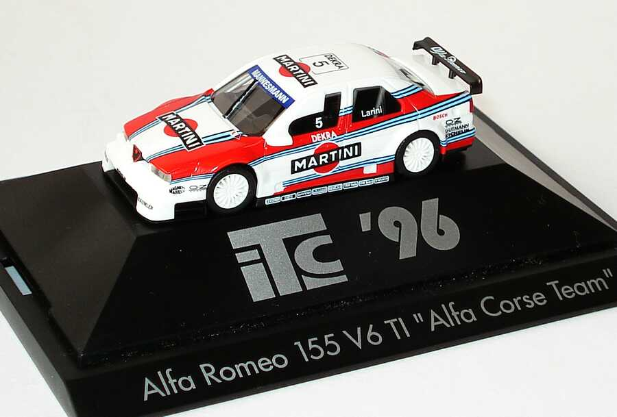 Foto 1:87 Alfa Romeo 155 V6 TI ITC 1996 Alfa Corse, Martini Nr.5, Nicola Larini herpa 036832