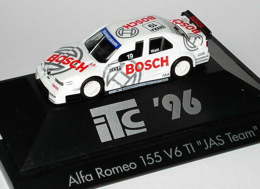 Foto 1:87 Alfa Romeo 155 V6 TI ITC 1996 JAS, Bosch Nr.19, Jason Watt herpa 036887
