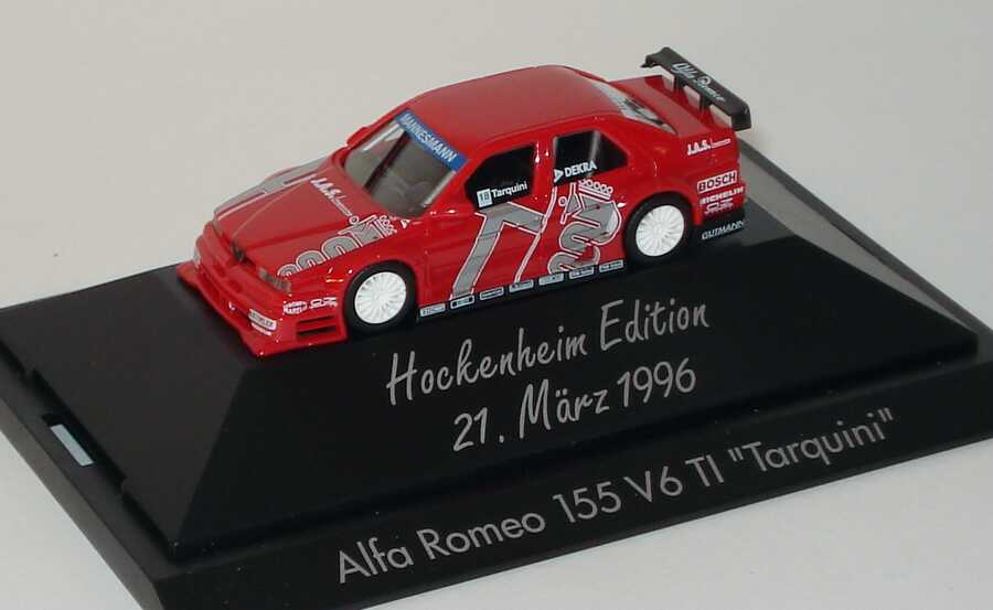 Foto 1:87 Alfa Romeo 155 V6 TI ITC 1996 JAS Nr.18 Gabriele Tarquini Hockenheim Edition 1996 - herpa 036740