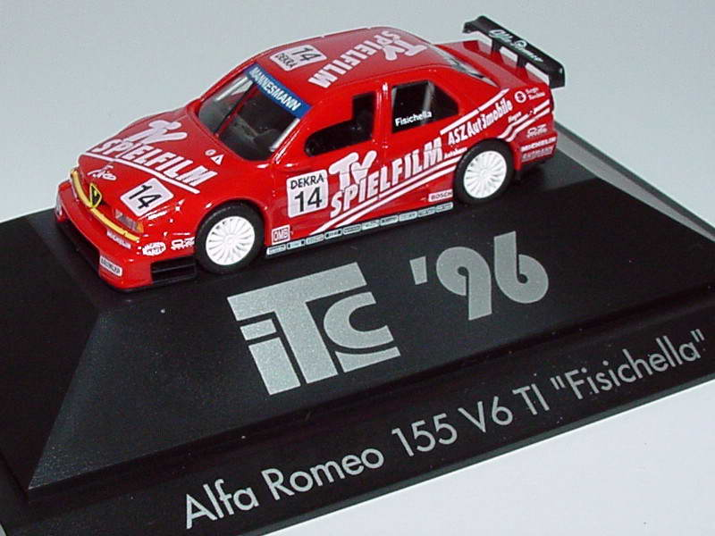 Foto 1:87 Alfa Romeo 155 V6 TI ITC 1996 TV Spielfilm Nr.14, Fisichella herpa 037068