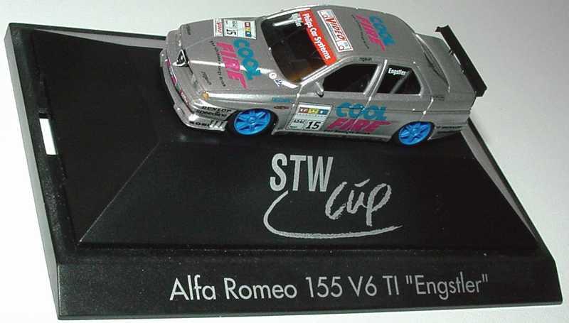 Foto 1:87 Alfa Romeo 155 V6 TI STW Cool Fire Nr.15, Engstler herpa 037204