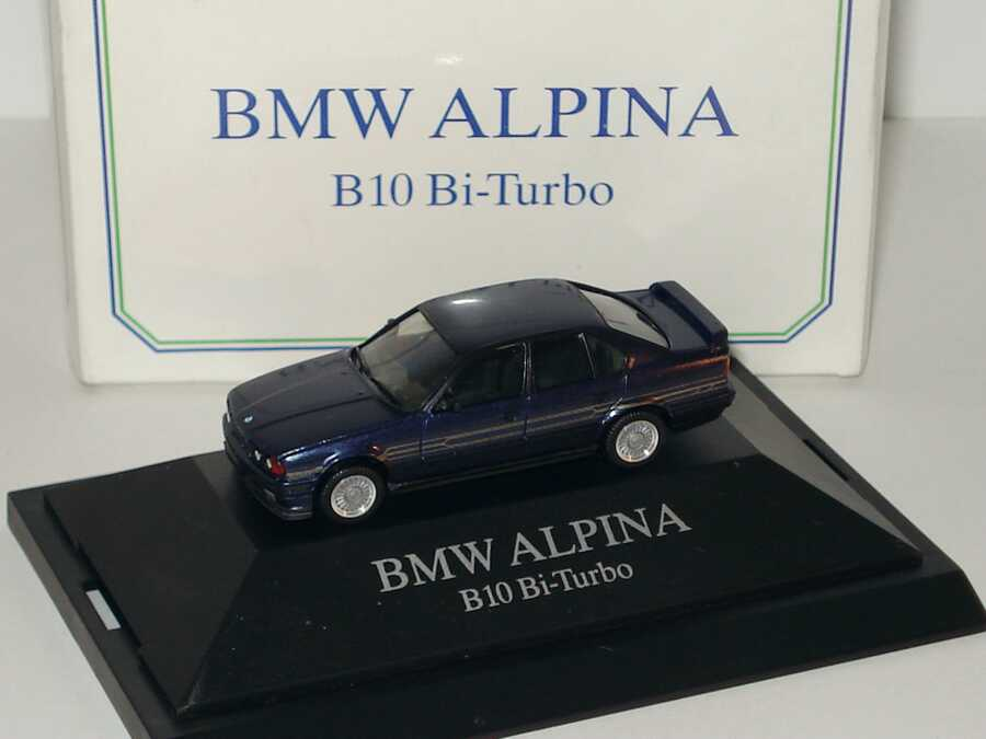 Foto 1:87 Alpina B10 BiTurbo (E34) blau-met. Werbemodell herpa